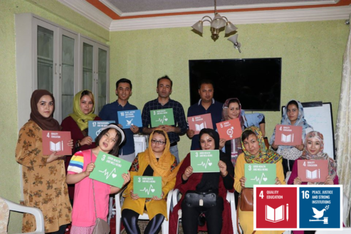 Teaching Peace in a war affected Afghanistan