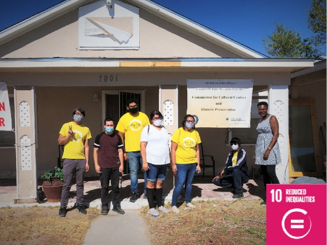 Shine City Project Cleans Harrison House in support of Peace Road (USA)