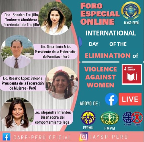 Online Special Forum Day of the Elimination of violence against women (Peru)