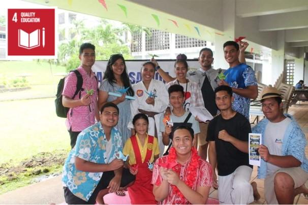 'KOJA' stall (Korean & Japanese Culture stall) at the NUS/National University of Samoa's Fun Day