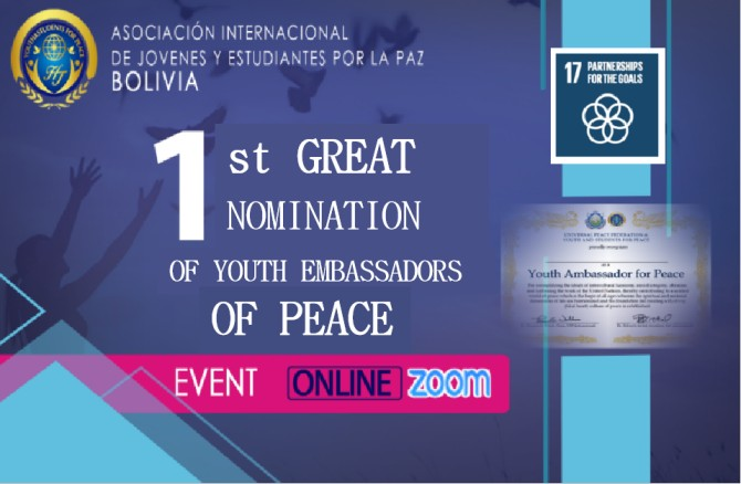 First Appointment Ceremony of Youth Ambassadors for Peace (Bolivia)