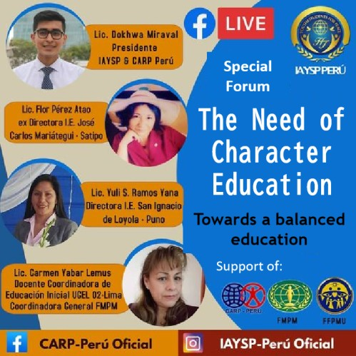 "Online Special Forum ""The Need for Character Education"" (Peru)"