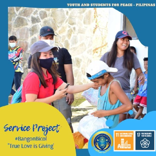 1st Service Project for the victims of typhoons in the Philippine