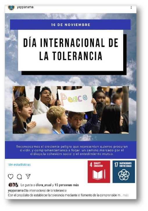 IAYSP Panama promotes International Day of Tolerance and the International Philosophy Day through SNS