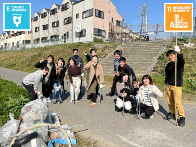 Yamato River clean up project (Japan)