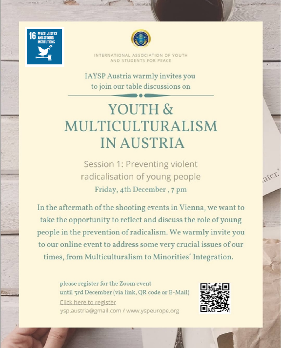"""Youth and Multiculturalism in Austria: """"Preventing violent radicalisation of young people"""" (Austria)"""