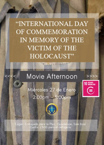 International Day of Commemoration in Memory of the Victims of the Holocaust (Costa Rica)