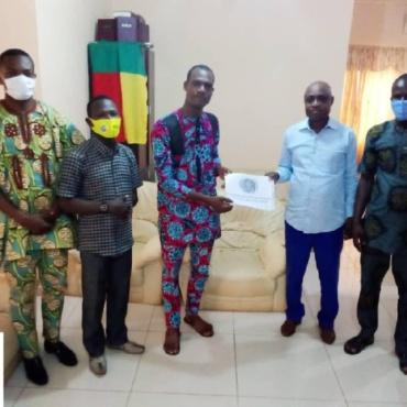 Partnership meeting with Mayor (Benin)