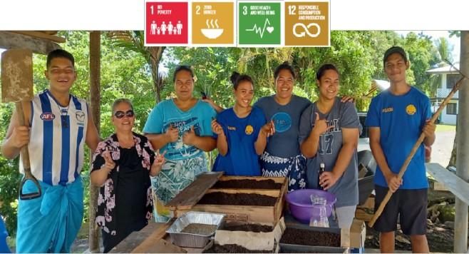 Partnership activity with All-Saints Anglican Youth (Samoa)
