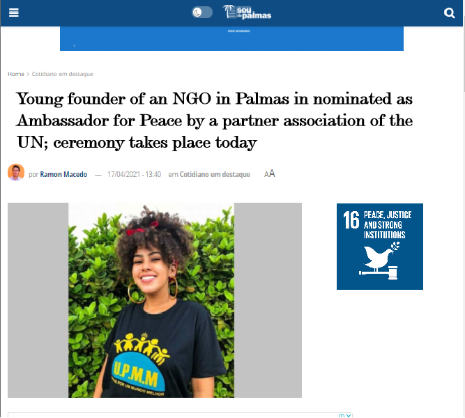 1st Nomination of Young Ambassadors For Peace (Brazil)