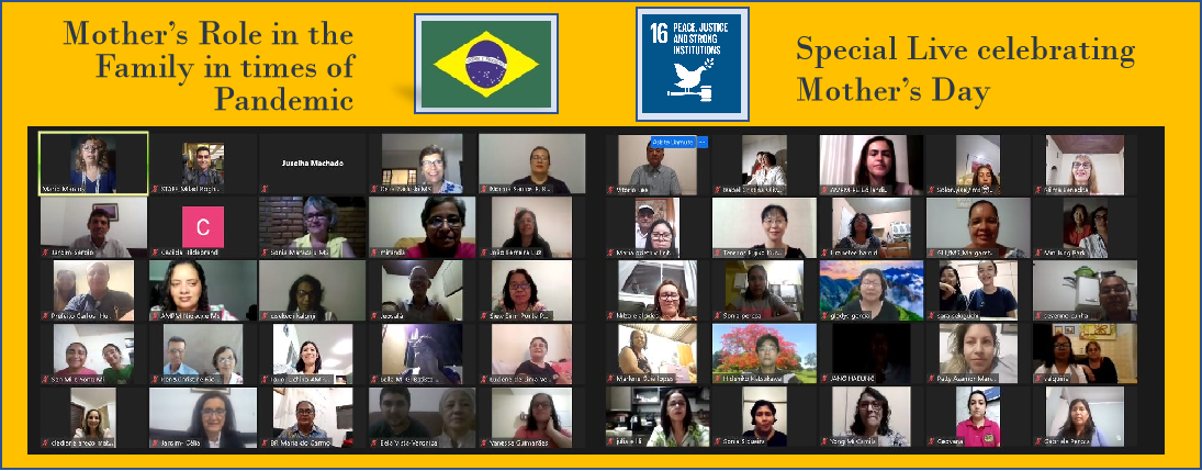 Special Live celebrating Mother's Day: Mother's Role in the  Family in times of Pandemic (Brazil)
