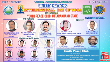 Launching Youth Peace Club in Uttarakhand State (India)