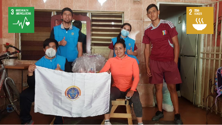 Donations of clothing, food and sports activities (Venezuela)