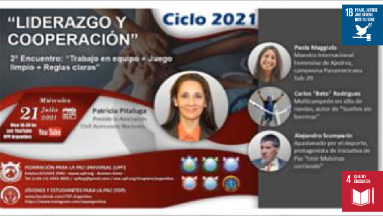 Cycle 2021: Leadership and cooperation (Argentina)